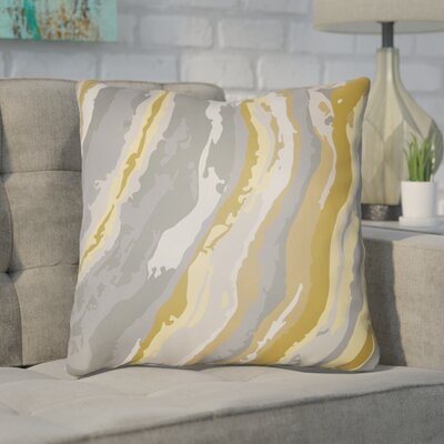 Konnor Throw Pillow Size: 20 H x 20 W x 4 D, Color: Yellow