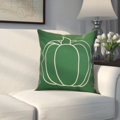 Miller Pumpkin Pie Geometric Throw Pillow Size: 16 H x 16 W x 2 D, Color: Green