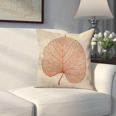Miller Leaf Study Floral Throw Pillow Size: 16 H x 16 W x 2 D, Color: Rust