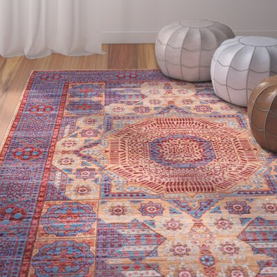 Kamari Red Area Rug Rug Size: Rectangle 710 x 1010