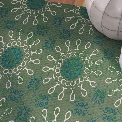 Soluri Green Indoor/Outdoor Area Rug Rug Size: 4 x 6