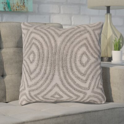 Taylor Linen Throw Pillow Size: 18 H x 18 W x 4 D, Color: Gray, Filler: Polyester