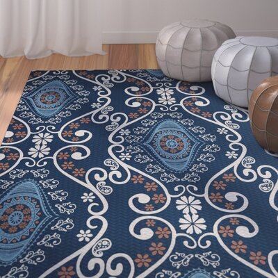 Soluri Navy Blue Indoor/Outdoor Area Rug Rug Size: Rectangle 2 x 3