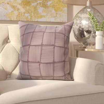 Parsons Basketweave Geometric Print  OutdoorThrow Pillow Size: 18 H x 18 W, Color: Purple