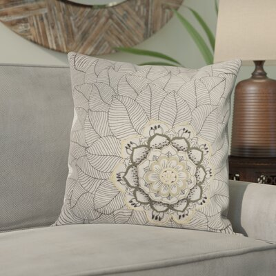 Scaife Cotton Throw Pillow Color: Natural