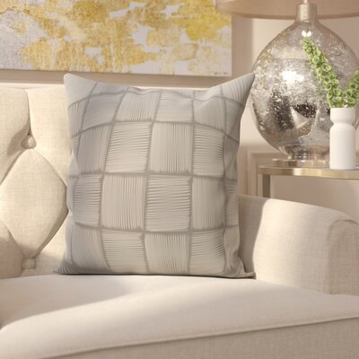 Parsons Basketweave Geometric Print  OutdoorThrow Pillow Size: 20 H x 20 W, Color: Gray