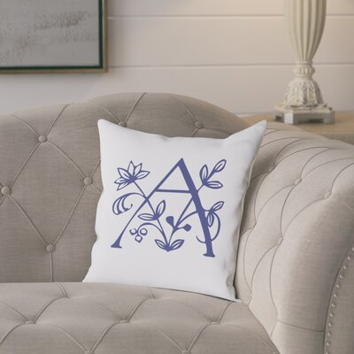 Attina Personalized Floral Initial Throw Pillow Letter: A