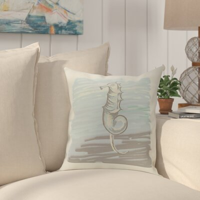 Bhushan Seahorse Decorative Outdoor Pillow Color: Grey, Size: 20 H x 20 W x 1 D