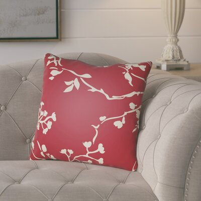 Teena Throw Pillow Size: 18 H x 18 W x 4 D, Color: Red