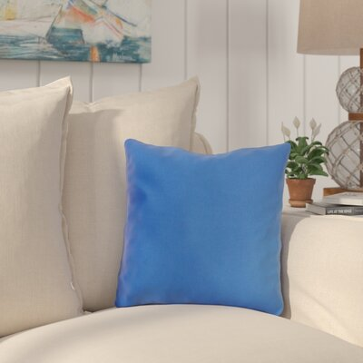 Mayson Outdoor Throw Pillow Color: Pacific Blue