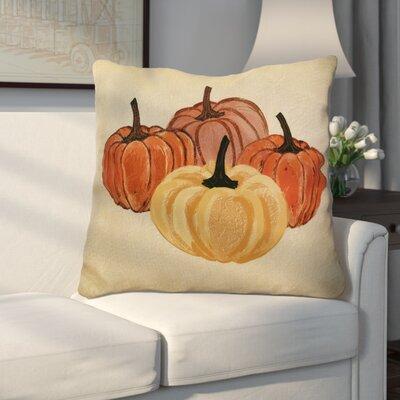 Miller Paper Mache Pumpkins Geometric Euro Pillow Color: Yellow