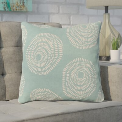 Maryanne 100% Cotton Throw Pillow Size: 22 H x 22 W x 4 D, Color: Teal/Cream