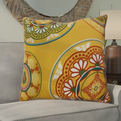 Soluri Medallions Geometric Euro Pillow Color: Gold