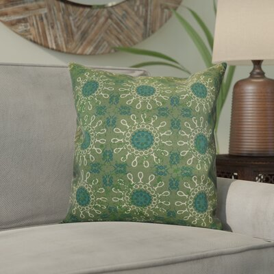 Wellington Tile Geometric Throw Pillow Size: 16 H x 16 W x 2 D, Color: Green