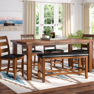 Bridlewood 9 Piece Dining Set Finish: Brown