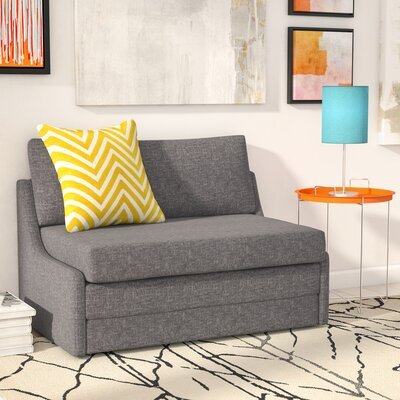 Sabine Sleeper Loveseat Upholstery: Dark Gray