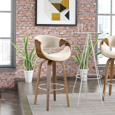 Auburn 30 Swivel Bar Stool Upholstery: Cream