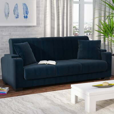 Ciera Covert-a-Couch Sleeper Sofa Upholstery: Blue