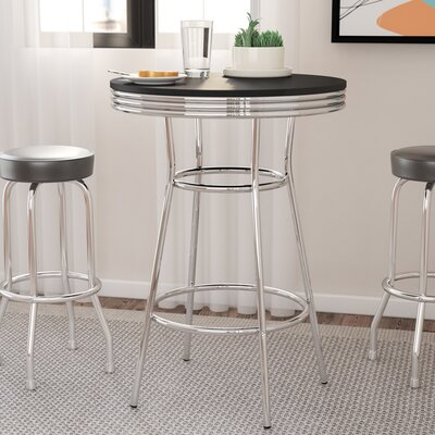 Jakson Retro Pub Table Color: Black