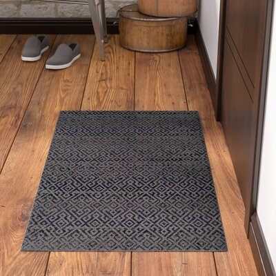 Waller Pavers Black/Gray Indoor/Outdoor Area Rug Rug Size: Rectangle 2 x 37