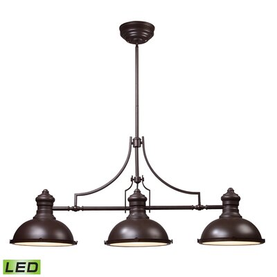 Susan 3-Light Pool Table Light Finish: Oiled Bronze