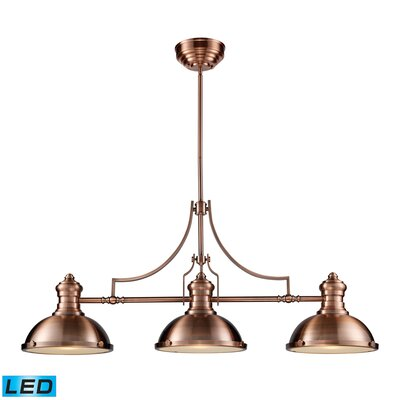 Susan 3-Light Pool Table Light Finish: Antique Copper