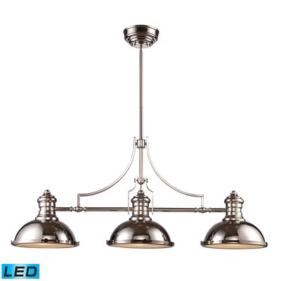 Susan 3-Light Pool Table Light Finish: Polished Nickel