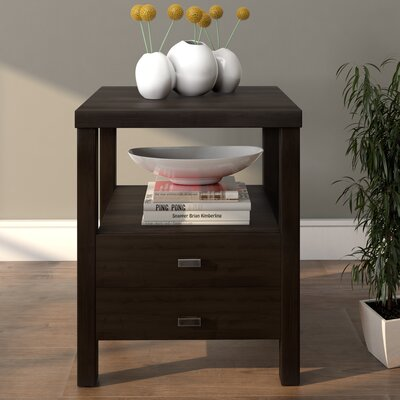 Sardina 2 Drawer Nightstand Color: Brown