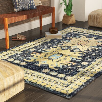 Valley Navy Blue Area Rug Rug Size: Runner 27 x 10