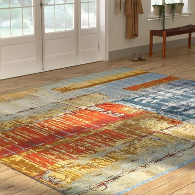 Camdyn Blue/Red Indoor/ Outdoor Area Rug Rug Size: Square 6
