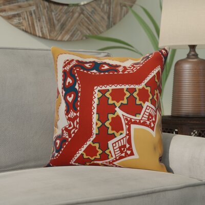 Soluri Rising Star Geometric Outdoor Throw Pillow Size: 16 H x 16 W x 2 D, Color: Gold