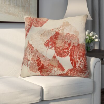 Miller Memories Floral Euro Pillow Color: Red