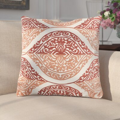 Parish Cotton Throw Pillow Color: Pink