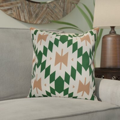 Soluri Geometric Throw Pillow Size: 16 H x 16 W x 2 D, Color: Teal
