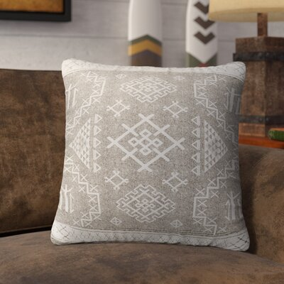 Cyrill Indoor/Outdoor Throw Pillow Size: 26 H x 26 W x 5 D, Color: Beige/ White