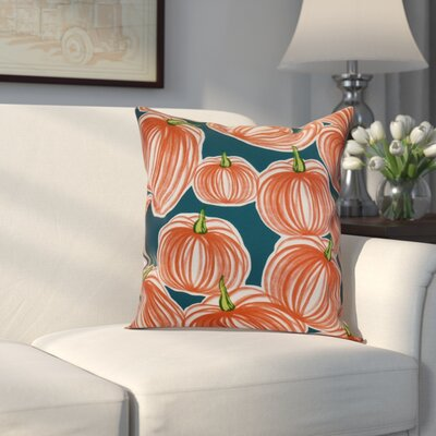 Miller Pumpkins-A-Plenty Geometric Throw Pillow Size: 16 H x 16 W x 2 D, Color: Teal