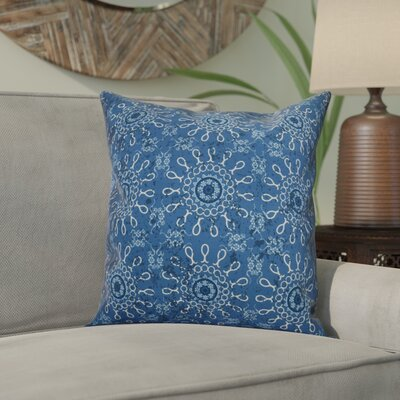 Wellington Tile Geometric Throw Pillow Size: 18 H x 18 W x 2 D, Color: Blue