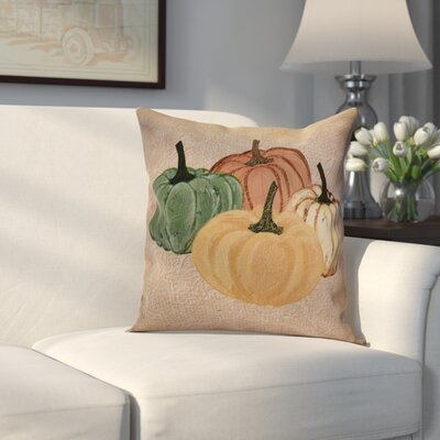 Miller Paper Mache Pumpkins Geometric Throw Pillow Size: 18 H x 18 W x 2 D, Color: Taupe