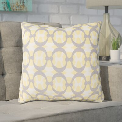 Clio Geometric Cotton Throw Pillow Size: 20 H x 20 W x 4 D, Color: Butter / Gray / White
