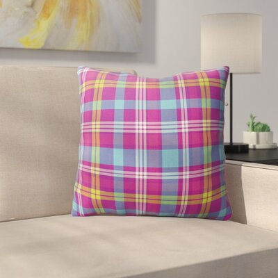 Harloe Plaid Indoor/Outdoor Throw Pillow Size: 26 H x 26 W x 4 D