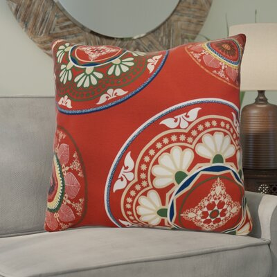 Soluri Medallions Geometric Euro Pillow Color: Red