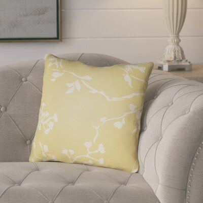 Teena Throw Pillow Size: 18 H x 18 W x 4 D, Color: Yellow