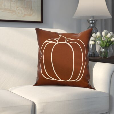 Miller Pumpkin Pie Geometric Outdoor Throw Pillow Size: 16 H x 16 W x 2 D, Color: Brown