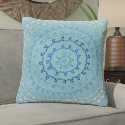Ira Ombre Threads Outdoor Throw Pillow Size: 20 x 20, Color: Aqua