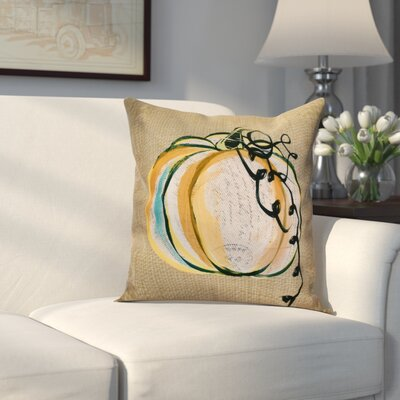 Miller Pumpkin Fest Throw Pillow Size: 16 H x 16 W x 2 D, Color: Taupe
