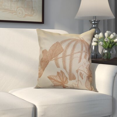 Miller Stagecoach Floral Outdoor Throw Pillow Size: 16 H x 16 W x 2 D, Color: Taupe