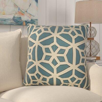 Bonham Geometric Pattern Down Fill Throw Pillow Color: Blue / Taupe