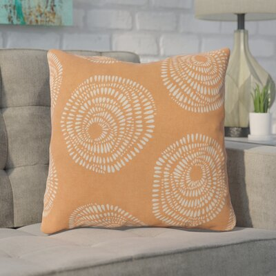 Maryanne 100% Cotton Throw Pillow Size: 18 H x 18 W x 4 D, Color: Orange