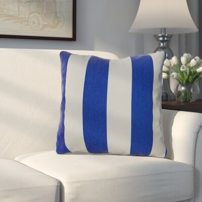 Amplas Stripe Throw Pillow Color: Riviera