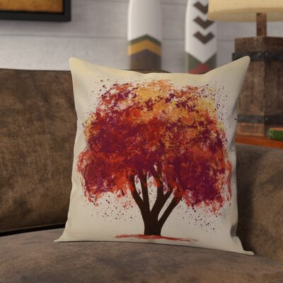 Brookfield Bount Outdoor Throw Pillow Size: 18 H x 18 W x 2 D, Color: Purple